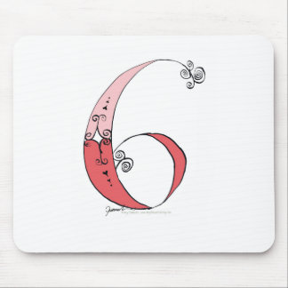 I Am 6 yrs Old from tony fernandes design Mouse Pad