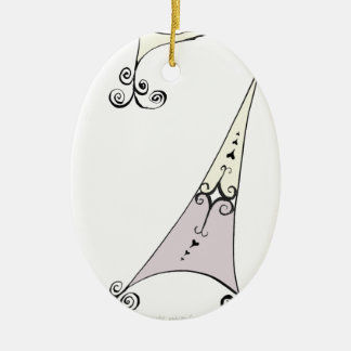 I Am 7 yrs Old from tony fernandes design Ceramic Oval Decoration