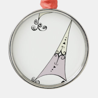 I Am 7 yrs Old from tony fernandes design Silver-Colored Round Decoration