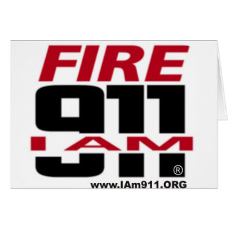 I Am 911 logo stuff for Fire, EMS, Dispatch! Greeting Card