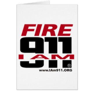 I Am 911 logo stuff for Fire, EMS, Dispatch! Greeting Card