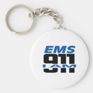 I Am 911 logo stuff for Fire, EMS, Dispatch! Key Ring