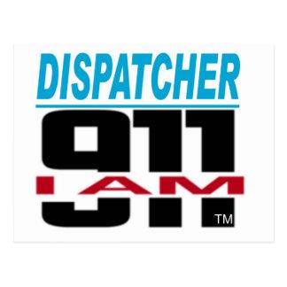 I Am 911 logo stuff for Fire, EMS, Dispatch! Postcard