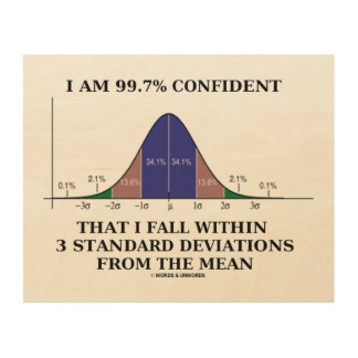 I Am 99.7% Confident Fall Within 3 Standard Dev Wood Print