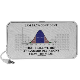 I Am 99.7% Confident Fall Within 3 Std Deviations iPod Speaker