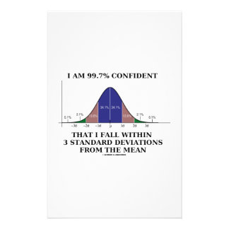 I Am 99.7% Confident Fall Within 3 Std Deviations Personalised Stationery