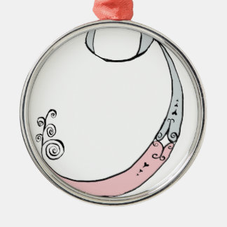 I Am 9 yrs Old from tony fernandes design Silver-Colored Round Decoration