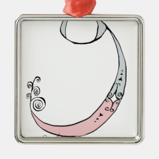 I Am 9 yrs Old from tony fernandes design Silver-Colored Square Decoration