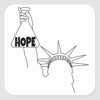 I am a Beaker of Hope Square Sticker