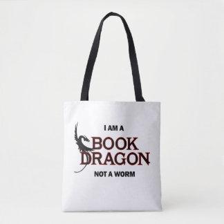 I am a Book Dragon, not a Worm Tote Bag