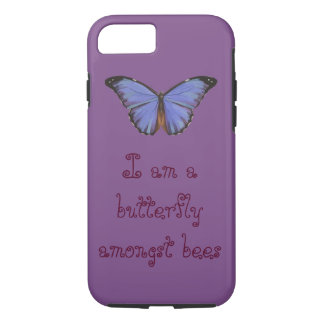 I am a butterfly amongst bees cellphone case