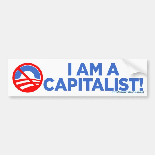 I Am A Capitalist Bumper Sticker