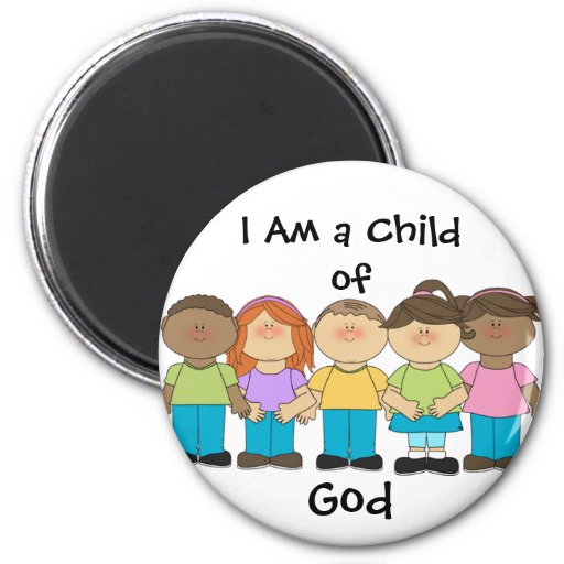 I Am a Child of God Magnet LDS Primary (round)