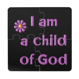 I Am a Child of God Puzzle Coaster