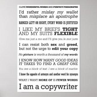 'I am a copywriter' poster
