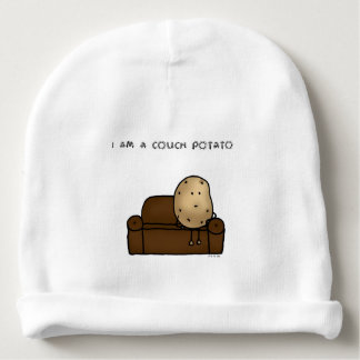 I am a couch potato baby beanie