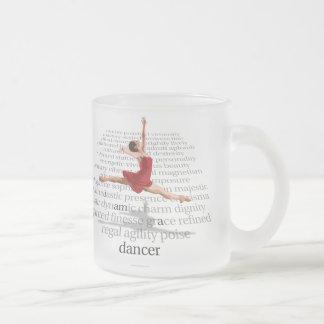 I Am A Dancer Frosted Glass Coffee Mug