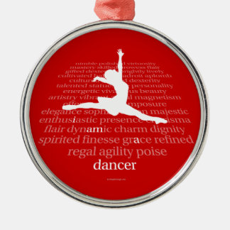 I Am A Dancer Silver-Colored Round Decoration
