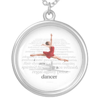 I Am A Dancer Silver Plated Necklace