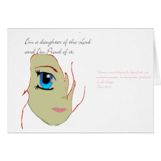 I am a daughter of the Lord Greeting Card