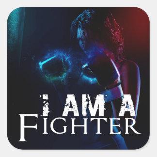 I am a fighter. square sticker