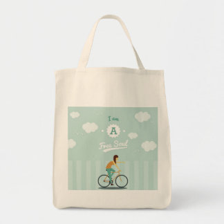 I am a Free Soul Grocery Tote Grocery Tote Bag
