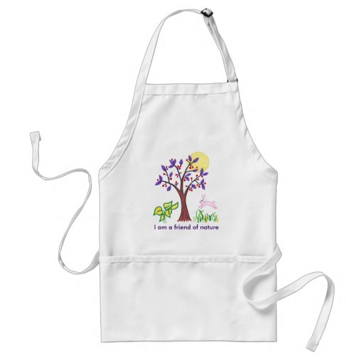 I am a friend of nature painting & quotation aprons