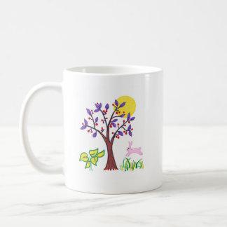 I am a friend of nature painting & quotation basic white mug