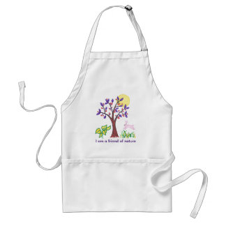 I am a friend of nature painting & quotation standard apron