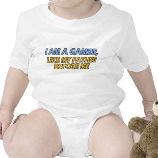 I Am a Gamer, Like My Father Before Me Bodysuits