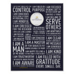 I Am A Gentleman Manifesto Poster (Blue)