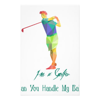 I am a Golfer - Can You Handle My Balls Customised Stationery