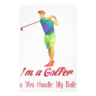 I am a Golfer - Can You Handle My Balls v2 Stationery Paper