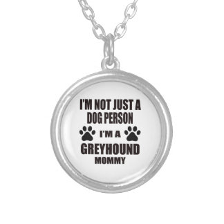 I am a Greyhound Mommy Round Pendant Necklace
