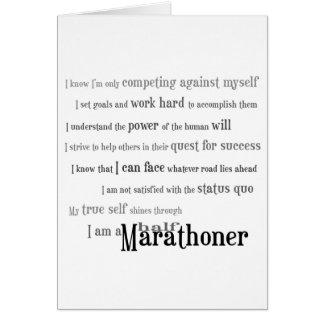 I am a Half Marathoner Best Of Luck Card