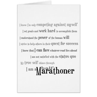 I am a Half Marathoner Congratulations Card