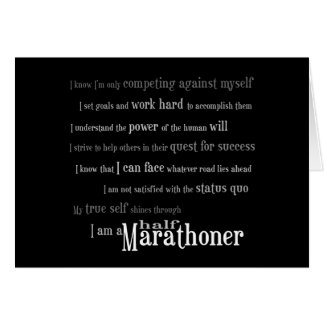 I Am a Half Marathoner Greeting Card