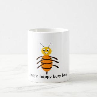 I am a happy busy bee! basic white mug