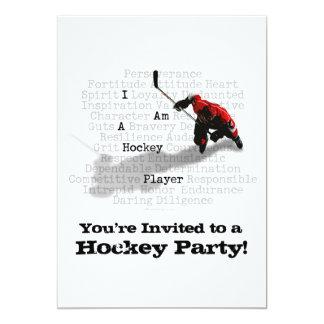 I am a Hockey Player party Invitation