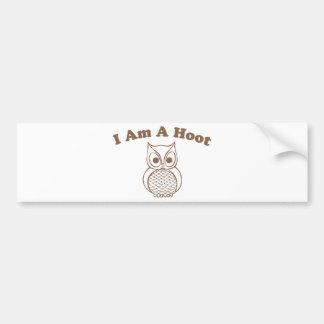 I Am A Hoot Bumper Sticker