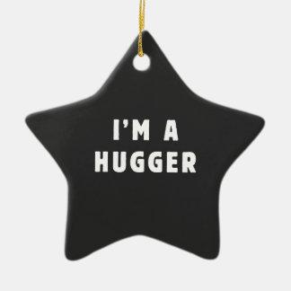I am a hugger ceramic star decoration