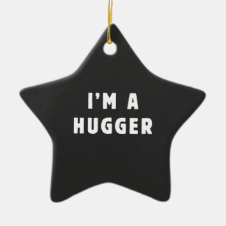 I am a hugger christmas ornament