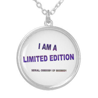I Am A Limited Edition Round Pendant Necklace
