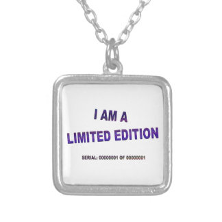 I Am A Limited Edition Silver Plated Necklace