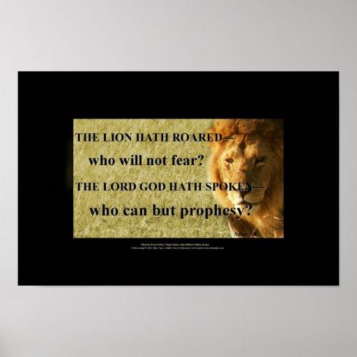 I am a lion, hear me roar poster