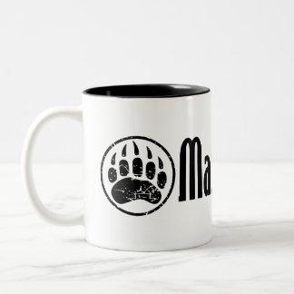 I am a MAMA GRIZZLY Two-Tone Mug