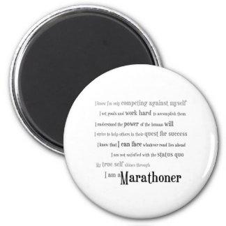 I am a Marathoner 6 Cm Round Magnet