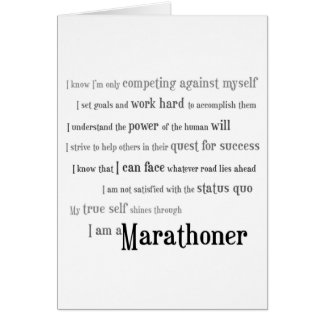I Am a Marathoner Good Luck Greeting Card
