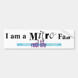 I am a Micro Fan Bumper Sticker
