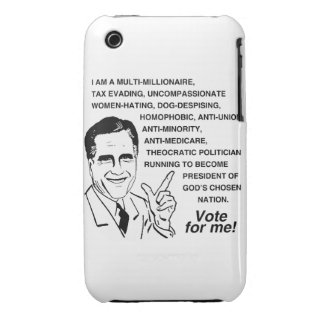 I AM A MULTI-MILLIONAIRE SO VOTE FOR ME iPhone 3 CASE